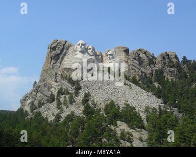 Us president in Mount Rushmore National Memorial - South Dakota - Stock Photo