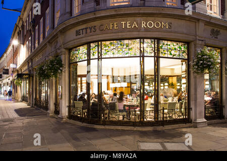 St Helens Square, York, UK - SEPTEMBER 9, 2016. The exterior of the popular Betty's Cafe and Tea Rooms shown at - Stock Photo