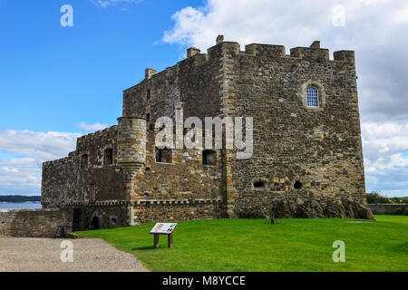 Blackness Castle near the Scottish village of Blackness on the banks of the Firth of Forth in West Lothian, Scotland, - Stock Photo