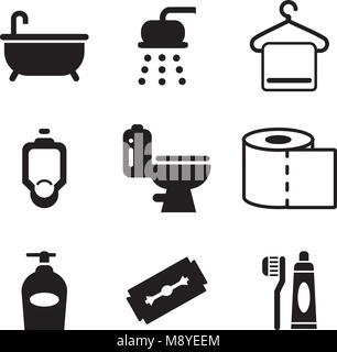 Bathroom Icons - Stock Photo