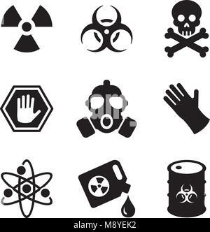 Biohazard Icons - Stock Photo