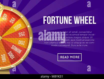 Webpage vector design about fortune wheel - Stock Photo