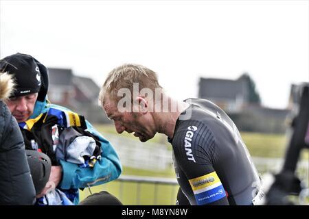 10th March 2018. Aintree Racecourse, Liverpool, UK. Eddie Soens Memorial Race. Matt Bottrill - 2nd in the race. - Stock Photo