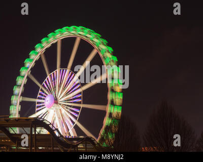 Hamburg, Germany - April 04, 2016: Hamburger Dom, held three times a year, is the biggest public festival in Northern - Stock Photo