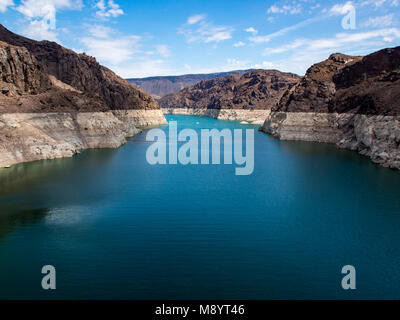 Lake Mead, Hoover Dam View, Low Water Level - Stock Photo
