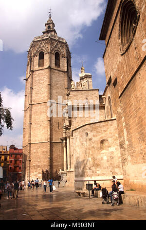 Cathedral Plaza de la Reina Valencia Spain - Stock Photo