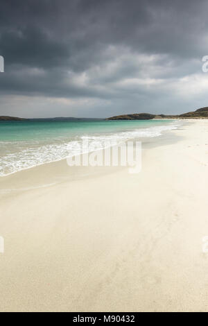 Traigh na Beirigh beach at Neep on the Isle of Lewis in the Outer Hebrides. - Stock Photo