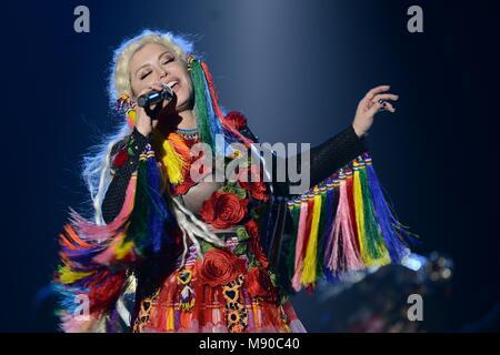 Loredana Groza is a Romanian pop singer-songwriter, model, actress, dancer, TV personality - Stock Photo