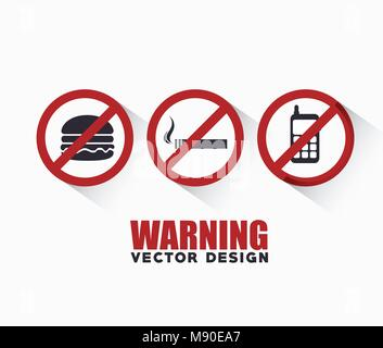 prohibition signs design, vector illustration eps10 graphic - Stock Photo