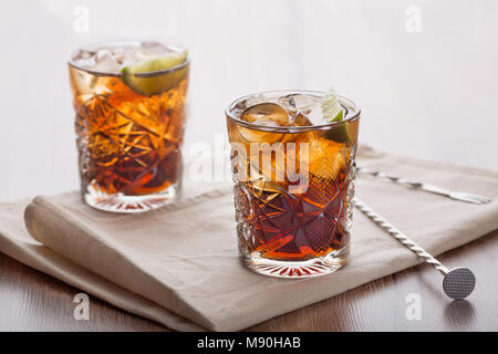 Invigorating cocktails in a light room - Stock Photo
