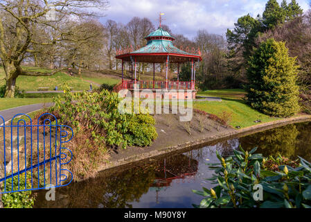 The bandstand in Sefton Park Liverpool. - Stock Photo