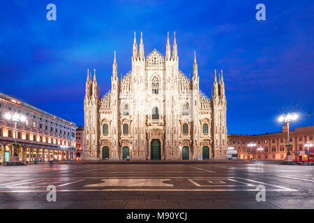 Milan Cathedral on Piazza del Duomo, Milan, Italy - Stock Photo