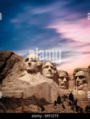 USA - SOUTH DAKOTA:  Mount Rushmore National Memorial - Stock Photo