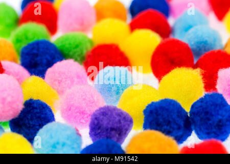 Stack of sphere carpets on the white background.Perspective view. - Stock Photo