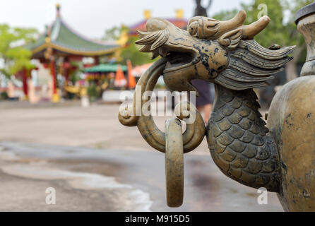 Side of the incense burner shaped as a dragon. - Stock Photo