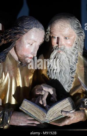 Unterlinden Museum.  The Isenheim Altarpiece, Nikolaus Hagenauer and Matthias GrŸnewald, in 1512Ð1516. The apostles.  Colmar. France. - Stock Photo