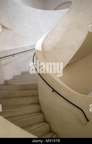 Unterlinden Museum.  Spiral Staircase. Colmar. France. - Stock Photo