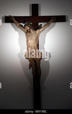 Saint-Pierre le Vieux Catholic Church. The crucifixion. JŽsus on the cross.  Strasbourg. France. - Stock Photo