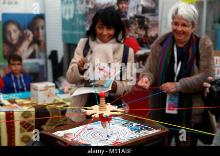 Protestant festival. NGO working with refugees in Irak and Syria.  Strasbourg. France. - Stock Photo
