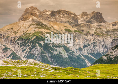 mountains around Tre Cime di Lavaredo - Dolomites, Italy - Stock Photo