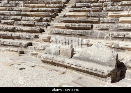 Turkey ancient city of Aspendos Theater in Antalya. - Stock Photo