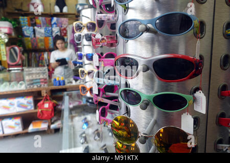 Assortment of sun  glasses in a shop.                   Phu Quoc. Vietnam. - Stock Photo