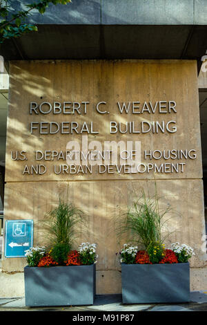 Robert C. Weaver Federal Building, US Department of Housing and Urban Development, 451 7th St SW, Washington DC - Stock Photo