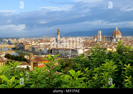 Panoramic view of  Florence in Italy - Stock Photo