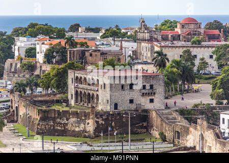 Alcázar de Don Diego Colón, Santo Domnigo, Dominican Republic - Stock Photo