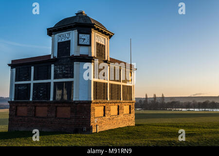 Race organisers directors box office at Pontefract Race Course, West Yorkshire, UK. Horse racing. - Stock Photo