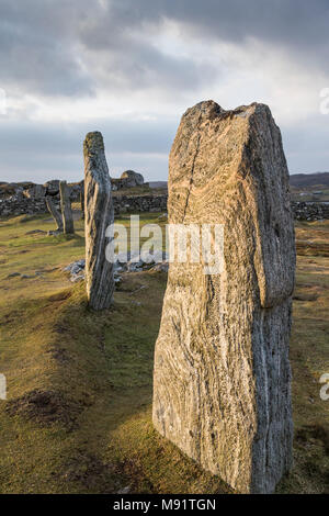 Callanish Stone Circle on the Isle of Lewis in the Outer Hebrides. - Stock Photo