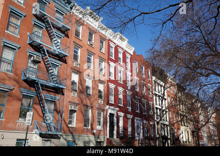 Houses in the East Village, New York City - Stock Photo