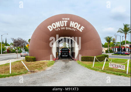 The Donut Hole Restaurant in La Puente California - Stock Photo