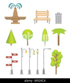Urban icons elements - Stock Photo