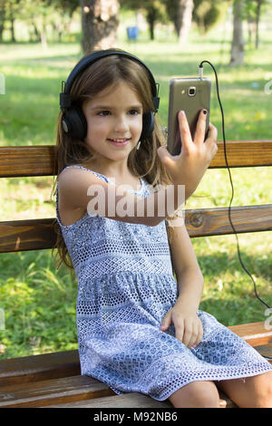 selfie 5 years old girl - Stock Photo