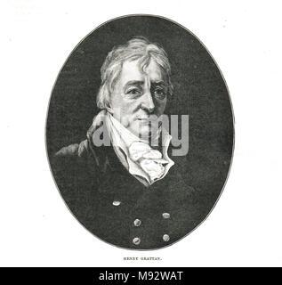 Henry Grattan, 1746–1820, Irish politician, and member of the Irish House of Commons - Stock Photo