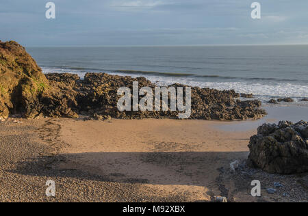 Rotherslade Bay on the Gower Peninsula south Wales just east of Langland Bay. - Stock Photo