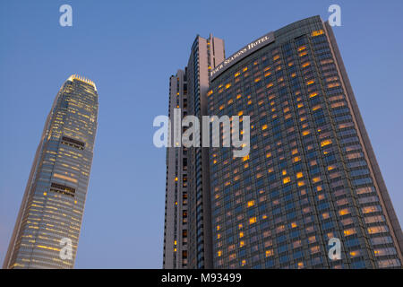 The new Four Seasons hotel, Central financial district, Hong Kong , China. - Stock Photo