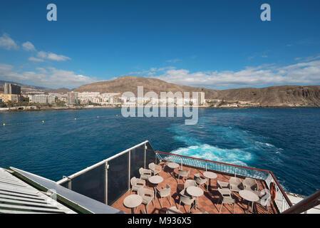 Los Cristianos coastline, Tenerife, Canary islands, Spain. - Stock Photo