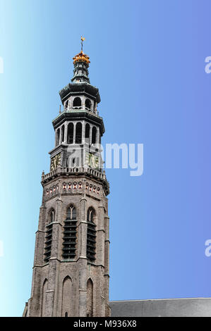 church tower 'the lange jan Middelburg Zeeland the Netherlands - Stock Photo