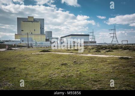 Dungeness Nuclear Power station on the Kent coast, England, UK - Stock Photo