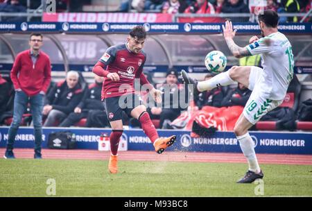 Germany, Nuernberg, Max-Morlock-Stadion, 03 March 2018 - 2.Bundesliga - 1.FC Nürnberg vs. SpVgg Greuther Fürth - 264th Franken Derby! - Stock Photo