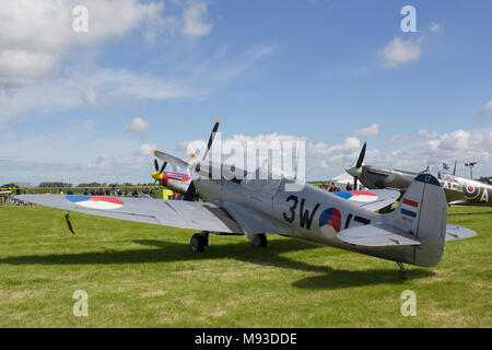 Oostwold, Netherlands May 25, 2015: Dutch Spitfire Oostwold Airshow - Stock Photo