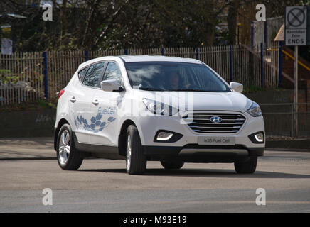 Hyundai ix35 Hydrogen Fuel Cell Vehicle, the world's first production model in Oxford. - Stock Photo
