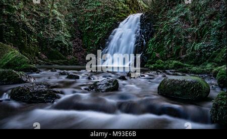 GLENOE WATERFALL NORTHERN IRELAND - Stock Photo