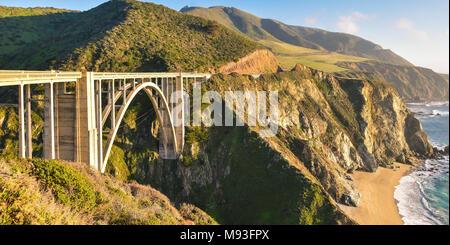 Famous Bixby Creek Bridge - Big Sur, California - Stock Photo