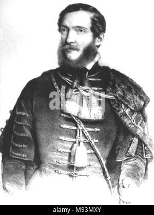 LAJOS KOSSUTH (1802-1894) Hungarian lawyer and statesman - Stock Photo