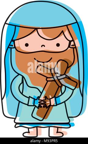 moved color jesus christ with cross and bread background Stock ...