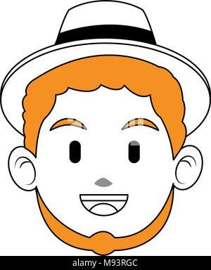 Man face cartoon - Stock Photo