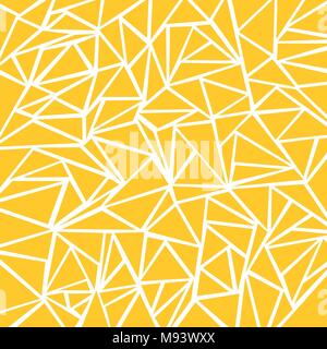 Abstract yellow mustard, white geometric and triangle patterns for background texture. Vector illustration - Stock Photo